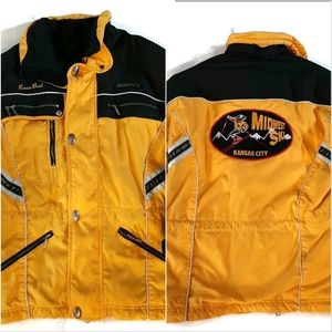 DESCENTE rare Midwest Ski logo yellow jacket …